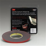 "3M™ 1/4"" x 20 yds.Automotive Acrylic Plus Attachment Tape, Black MMM6386"