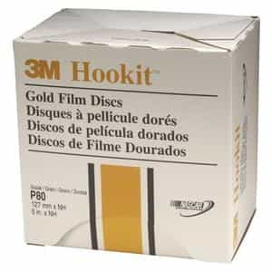 "3M 5"" Hookit Gold Film Disc, 75 Discs per Box MMM967"