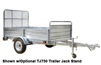 Detail K2 Inc DK2 MMT5X7G-DUG 5ft x 7ft Galvanized Mighty Multi Utility Trailer w/Drive Up Gate