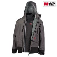 Milwaukee® 203RN-21 M12™ Heated AXIS™ Layering System w/HYDROBREAK™ Rain Shell Sizes Available Medium, Large, & X-Large - MWK-203RN-21