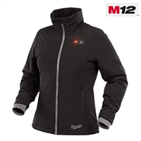 Milwaukee® 232B-21 M12™ Women's Heated SOFTSHELL Jacket, Black - Sizes Available Medium, Large, & X-Large - MWK-232B-21