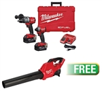 Milwaukee 2997-22 M18 FUEL™ 2-Tool Combo Kit - Hammer Drill/Impact w/Free M18™ Fuel Blower - MWK-2997-22BL