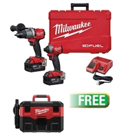 Milwaukee 2997-22 M18 FUEL™ 2-Tool Combo Kit - Hammer Drill/Impact w/Free M18™ Wet/Dry Vacuum (Bare Tool) - MWK-2997-22V