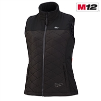 Milwaukee® 333B-21 M12™ Women's Heated AXIS™ Vest Kit, Black - Sizes Available Medium, Large, & X-Large - MWK-333B-21
