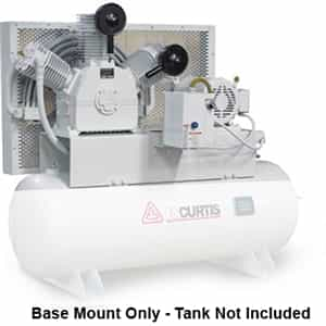 FS-Curtis OL10 Base Mounted 10HP Oil-less Air Compressors (230V or 460V 3-Phase)