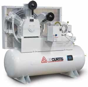 FS-Curtis OL10 Duplex Tank-Mounted 10HP 200-Gallon Oil-less Air Compressors (230V or 460V 3-Phase)