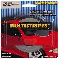 "Prostripe 1/4"" x 150' Premium Dual Color Multipstripes Silver Metallic/Tomato Red PRS-R41720"