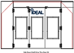 iDeal PSB-SDD-TF-DTDK-AK Tri-Fold Drive-Thru Door Kit