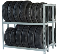 WPSS 2DES RiveTier® I Double Starter Tire Rack - 4 Shelves - R2-2DES
