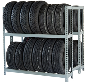 WPSS 2DES RiveTier® I Double Starter 2 Tier Tire Rack - 4 Shelves - R2-2DES