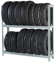 WPSS RiveTier® I 2SES Single Starter 2 Tier Tire Rack - 2 Shelves - R2-2SES