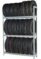 WPSS RiveTier® I 3SES  Single Starter 3 Tier Tire Rack - 3 Shelves - R2-3SES