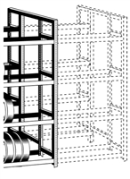 WPSS RiveTier® I 4DEA Double 4 Tier Adder Rack - 8 Shelves