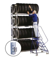 WPSS R2-4DES Double Starter 4 Tier Tire Rack - 8 Shelves
