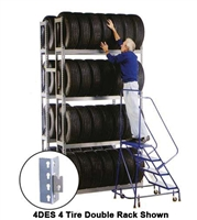 WPSS R2-5DES Double Starter 5 Tier Tire Rack - 10 Shelves