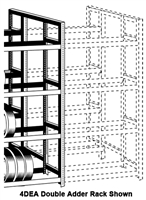 WPSS RiveTier® I 6DEA Double 6 Tier Adder Rack - 12 Shelves