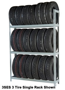 WPSS RiveTier® I 6SES  Single Starter 6 Tier Tire Rack - 6 Shelves - R2-6SES