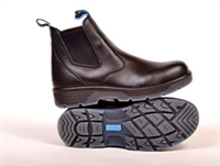 Redback BTCST Blue Tongue Station Slip-On Boots ​w/Composite Toe​, Black - Available Sizes 8 to 12 (Half Sizes 8.5 to 11.5) - RDB-BTCST9.5