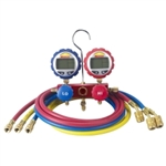 "Robinair 2-Way Manifold with Digital Gauges and 60"" Enviro-Guard Hoses ROB43186"