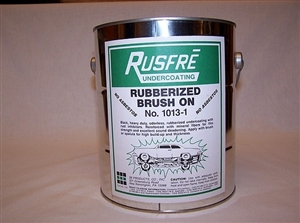 Rusfre 1-Gallon Brush-On Rubberized Undercoating RUS-1013