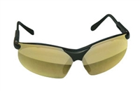 SAS Safety Black Frames/Gold Mirror Lens Sidewinders® Safety Glasses SAS541-0004