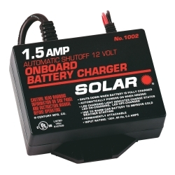 Solar 1.5 Amp 12 Volt Automatic On-Board Charger SOL1002