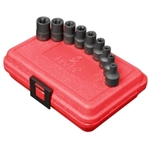 "Sunex 9 Piece 3/8"" Drive External Star Impact Socket Set - SUN3670SE"