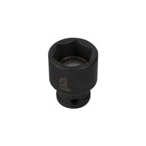 "Sunex 1/4"" Drive 14mm 6 Point Magnetic Impact Socket​ - SUN814MMG"