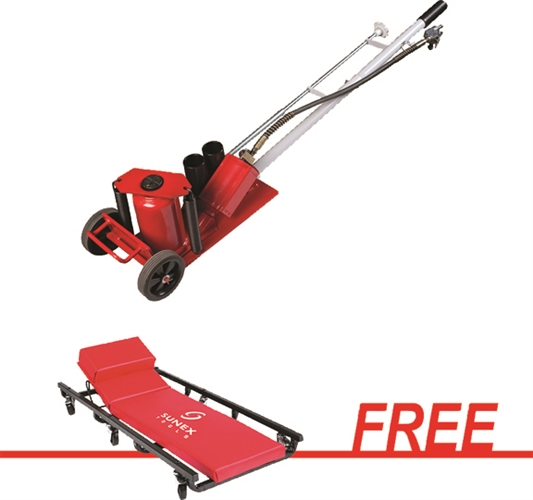 Sunex 6623 20 Ton Air/Hydraulic Truck Jack W/Free 6 Caster Creeper