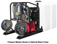 Hot2Go® T185TWH / SK30005VH 3000/5.0 Pressure Washer & 200 Gallon Tank Skid Package (Gas - Hot Water)
