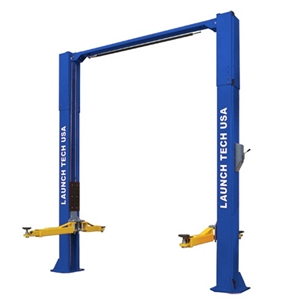 Launch Tech USA TLT210-XT 10,000 lb Clear Floor Asymmetric 2 Post Lift - ALI/ETL Certified