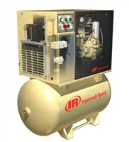 Ingersoll Rand UP6-7.5TAS-150 Rotary Screw Air Compressor, Total Air System, 120G Tank Mounted, 7.5HP, 230-1-60V, 25CFM, 150 MaxPSI