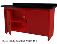 Quality Stainless Products WB-200-24 Steel Work Bench w/Doors