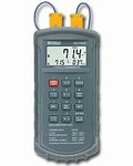 421502 Type J/K Thermocouple Dual Input Thermometer with Alarm