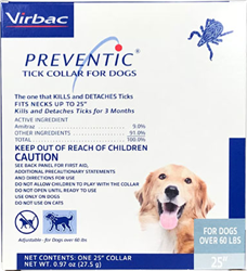 Preventic Tick Collar For Dogs Over 60 lbs - 25''