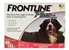 Frontline Plus for Dogs 89-132 lbs, Red 6 Tubes