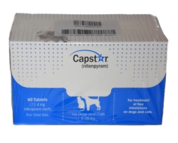 Capstar for Cats and Dogs 2-25 lbs, 60 Tablets
