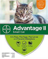 Advantage II For Small Cats 5-9 lbs, 12 Pack