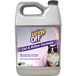 Urine Off Odor & Stain Remover for Cats, Veterinary Strength, Gallon