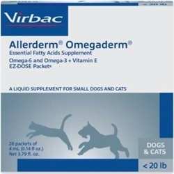 Allerderm OmegaDerm For Cats & Dogs Under 20 lbs, 28 Packets of 4 ml