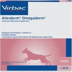 Allerderm OmegaDerm For Dogs Over 20 lbs, 28 Packets Of 8 ml