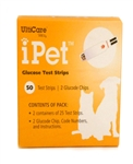 iPet Glucose Test Strips, 50 Count Box
