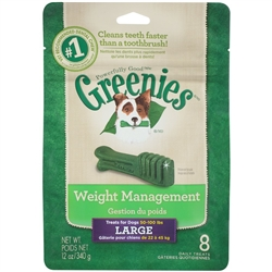 Greenies Weight Management  Treat Pack, Large 12 oz. (8 Pack)