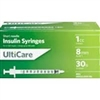 "UltiCare Insulin Syringe U-100 1 cc, 30 ga. x 5/16"", 100/Box"