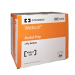 Coviden Webcol Alcohol Prep Pads 2 Ply, Medium, Box of 200