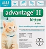 Advantage II For Kittens 1-5 lbs, 4 Pack