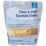 Clenz-A-Dent Enzymatic Rawhide Chews For Large Dogs, 30 Chews
