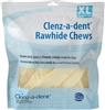 Clenz-A-Dent Enzymatic Rawhide Chews For Extra Large Dogs, 15 Chews