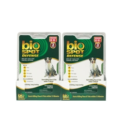 Bio Spot Defense Flea & Tick Spot On, Dogs 32-55 lbs, 6 Months