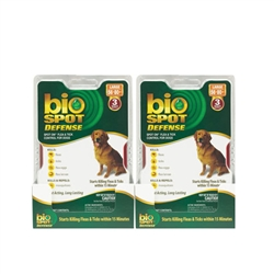 Bio Spot Defense Flea & Tick Spot On, Dogs 56-80 lbs, 6 Months